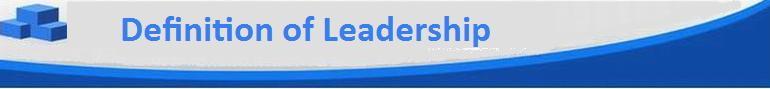 Definition of Leadership Header